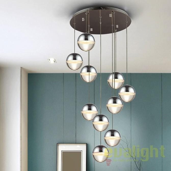 Lustra LED design modern ø45cm Flavia 10L SV-625327, Lustre LED, Pendule LED, Corpuri de iluminat, lustre, aplice, veioze, lampadare, plafoniere. Mobilier si decoratiuni, oglinzi, scaune, fotolii. Oferte speciale iluminat interior si exterior. Livram in toata tara.  a
