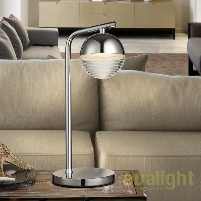 Veioza LED / Lampa de masa design modern Flavia SV-625875, Veioze, Lampi de masa, Corpuri de iluminat, lustre, aplice, veioze, lampadare, plafoniere. Mobilier si decoratiuni, oglinzi, scaune, fotolii. Oferte speciale iluminat interior si exterior. Livram in toata tara.  a
