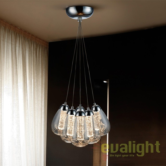 Lustra LED design modern Taccia 6L SV-394647, Lustre LED, Pendule LED, Corpuri de iluminat, lustre, aplice, veioze, lampadare, plafoniere. Mobilier si decoratiuni, oglinzi, scaune, fotolii. Oferte speciale iluminat interior si exterior. Livram in toata tara.  a