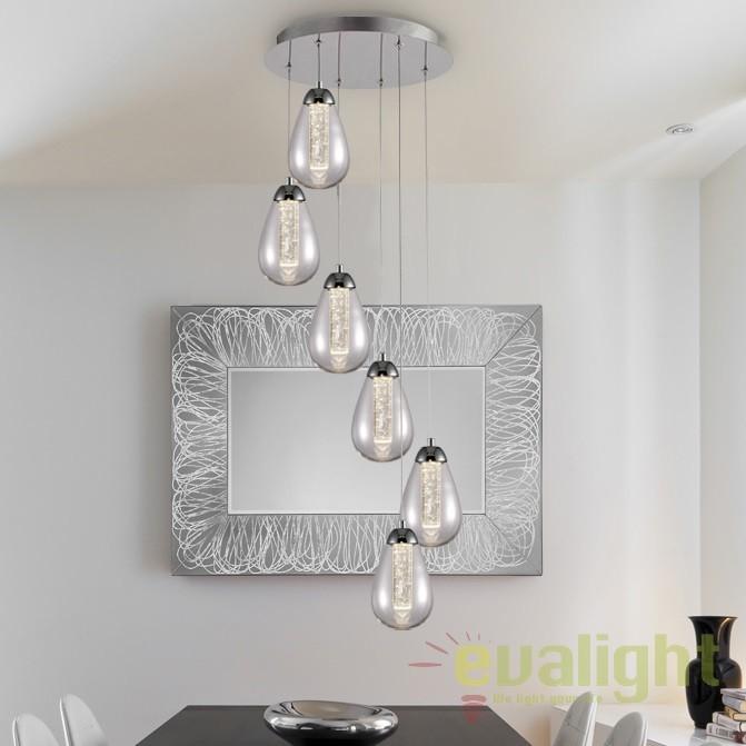 Lustra LED design modern ø41cm Taccia 6L SV-394529, Lustre LED, Pendule LED, Corpuri de iluminat, lustre, aplice, veioze, lampadare, plafoniere. Mobilier si decoratiuni, oglinzi, scaune, fotolii. Oferte speciale iluminat interior si exterior. Livram in toata tara.  a