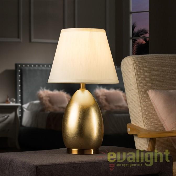 Veioza design elegant / Lampa de masa Ovalis oro SV-516238, Veioze, Lampi de masa, Corpuri de iluminat, lustre, aplice, veioze, lampadare, plafoniere. Mobilier si decoratiuni, oglinzi, scaune, fotolii. Oferte speciale iluminat interior si exterior. Livram in toata tara.  a
