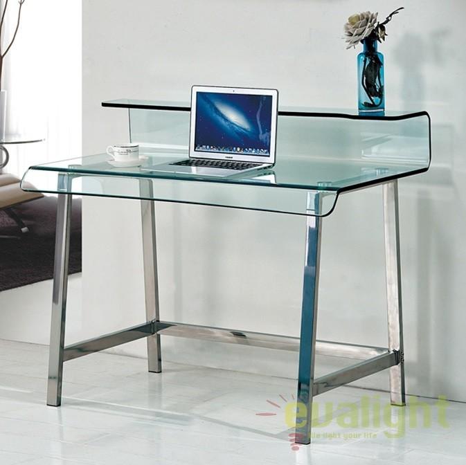 Birou design modern Glass SV-638271, Console - Birouri, Corpuri de iluminat, lustre, aplice, veioze, lampadare, plafoniere. Mobilier si decoratiuni, oglinzi, scaune, fotolii. Oferte speciale iluminat interior si exterior. Livram in toata tara.  a