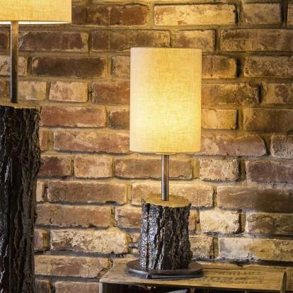 Veioza design scoarta de copac din aluminiu turnat TL 4104, Veioze, Lampadare Fier Forjat,  a