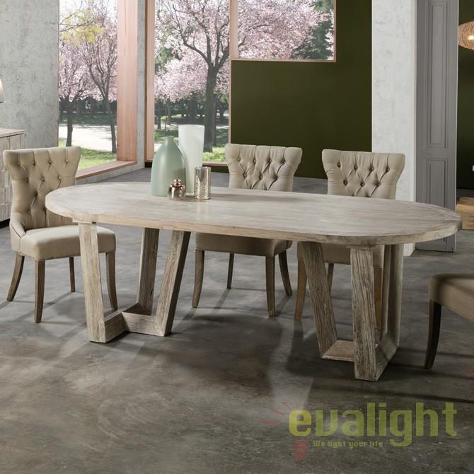 Masa dining din lemn design deosebit Morgan SV-745201, Mese dining, Corpuri de iluminat, lustre, aplice, veioze, lampadare, plafoniere. Mobilier si decoratiuni, oglinzi, scaune, fotolii. Oferte speciale iluminat interior si exterior. Livram in toata tara.  a