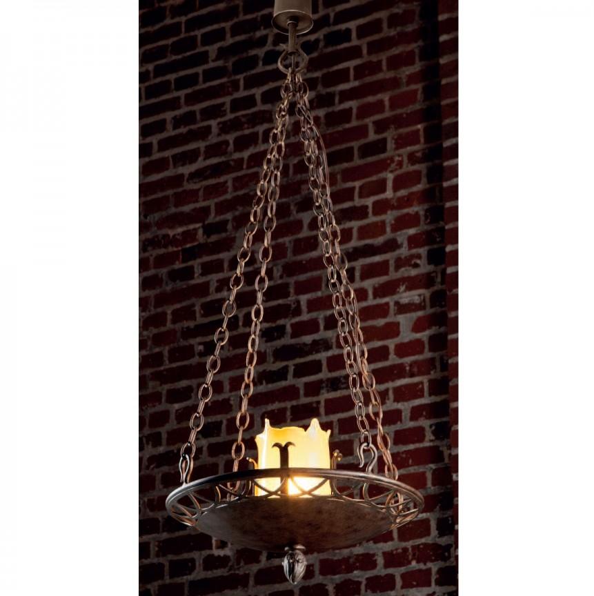 Candelabru din fier forjat realizat manual in stil gotic HL 2424, Lustre, Candelabre Fier Forjat,  a
