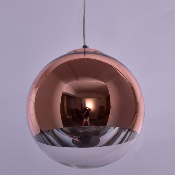 Pendul modern SE3130-1-COP ALESSIA COPPER-CLEAR Ø30 77-3706 HL, PROMOTII, Corpuri de iluminat, lustre, aplice, veioze, lampadare, plafoniere. Mobilier si decoratiuni, oglinzi, scaune, fotolii. Oferte speciale iluminat interior si exterior. Livram in toata tara.  a