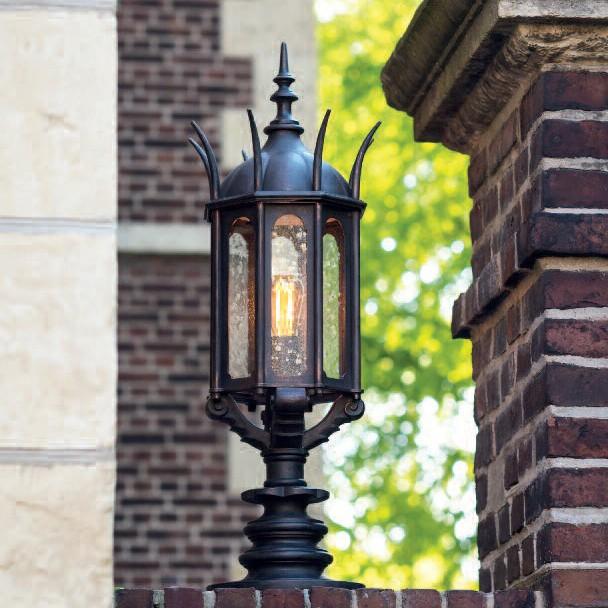 Stalp iluminat exterior din fier forjat, inaltime 91,3cm AL 6867, ILUMINAT FIER FORJAT DE LUX , Corpuri de iluminat, lustre, aplice, veioze, lampadare, plafoniere. Mobilier si decoratiuni, oglinzi, scaune, fotolii. Oferte speciale iluminat interior si exterior. Livram in toata tara.  a