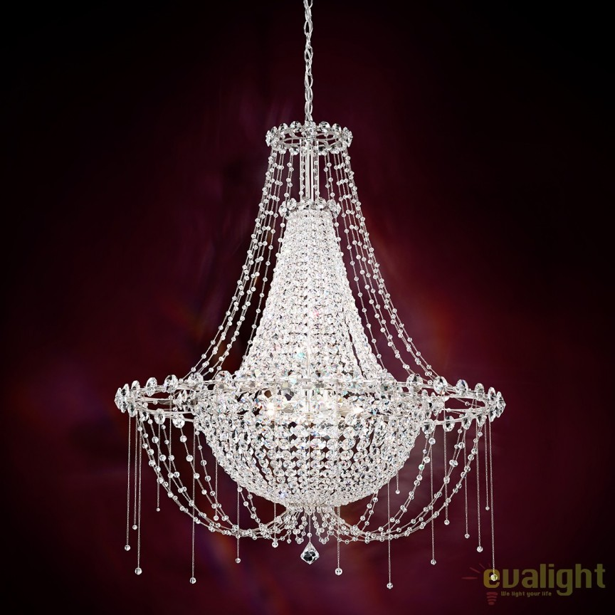 Candelabru elegant design LUX cristal Spectra, Chrysalita 85cm CM8334, Magazin, Corpuri de iluminat, lustre, aplice, veioze, lampadare, plafoniere. Mobilier si decoratiuni, oglinzi, scaune, fotolii. Oferte speciale iluminat interior si exterior. Livram in toata tara.  a