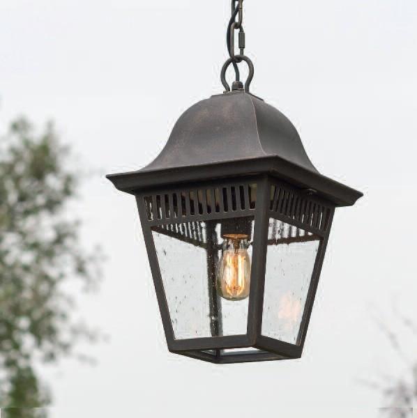 Pendul iluminat exterior din fier forjat, HL 2629, Lustre, Candelabre Fier Forjat,  a