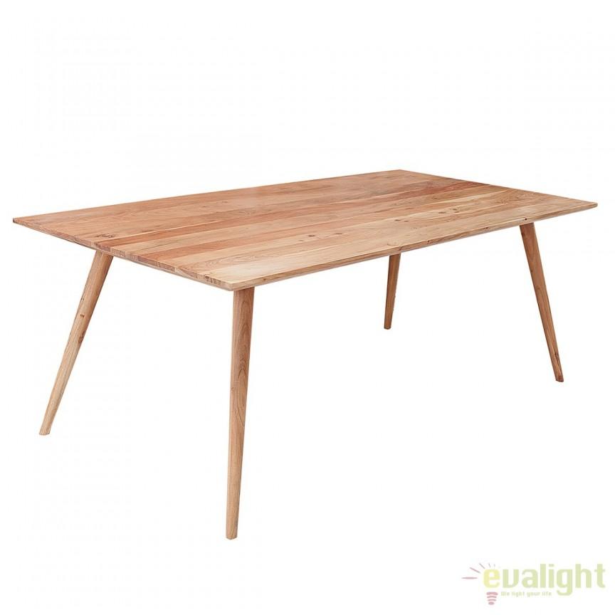 Masa din lemn de salcam Mystic 160cm A-38418 VC, Mese dining, Corpuri de iluminat, lustre, aplice, veioze, lampadare, plafoniere. Mobilier si decoratiuni, oglinzi, scaune, fotolii. Oferte speciale iluminat interior si exterior. Livram in toata tara.  a