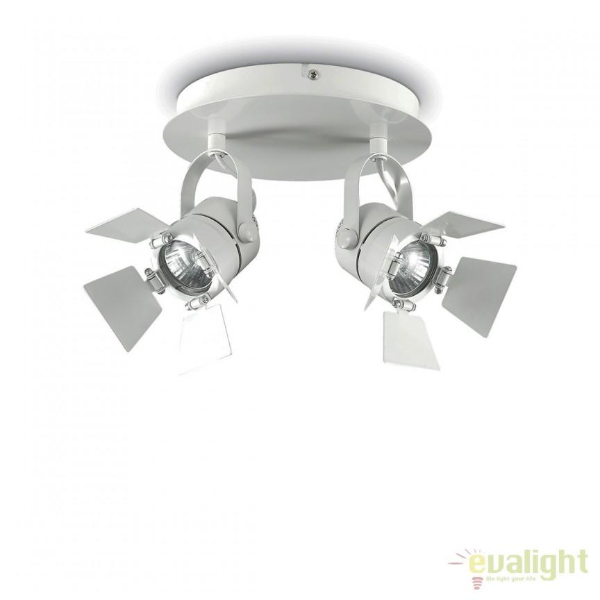 Aplica cu 2 spoturi directionabile cu flapsuri CIAK AP2 BIANCO 122274, Spoturi - iluminat - cu 2 spoturi, Corpuri de iluminat, lustre, aplice, veioze, lampadare, plafoniere. Mobilier si decoratiuni, oglinzi, scaune, fotolii. Oferte speciale iluminat interior si exterior. Livram in toata tara.  a