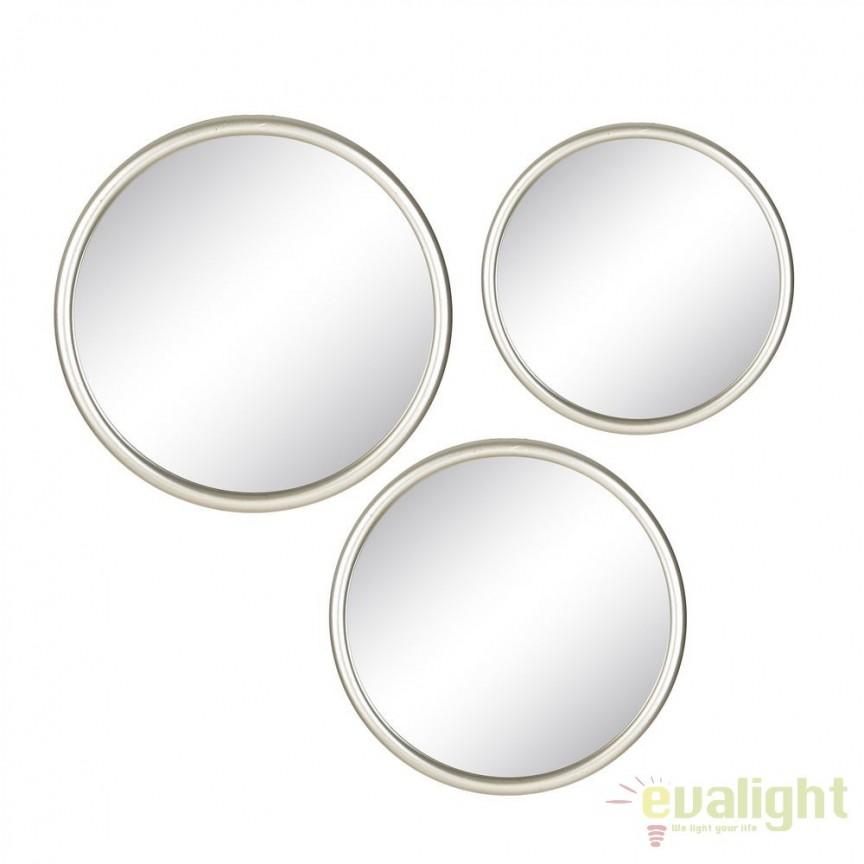 Set de 3 oglinzi cu rama din metal, PLATA METAL SX-103478, Oglinzi decorative, Corpuri de iluminat, lustre, aplice, veioze, lampadare, plafoniere. Mobilier si decoratiuni, oglinzi, scaune, fotolii. Oferte speciale iluminat interior si exterior. Livram in toata tara.  a