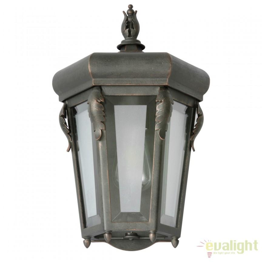 Aplica 1/2 iluminat exterior din fier forjat, WL 3626, ILUMINAT FIER FORJAT DE LUX , Corpuri de iluminat, lustre, aplice, veioze, lampadare, plafoniere. Mobilier si decoratiuni, oglinzi, scaune, fotolii. Oferte speciale iluminat interior si exterior. Livram in toata tara.  a