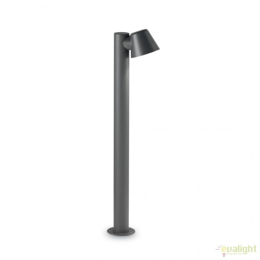 Stalp iluminat exterior modern IP43 GAS PT1 139470, Stalpi de iluminat exterior mici si medii , Corpuri de iluminat, lustre, aplice, veioze, lampadare, plafoniere. Mobilier si decoratiuni, oglinzi, scaune, fotolii. Oferte speciale iluminat interior si exterior. Livram in toata tara.  a