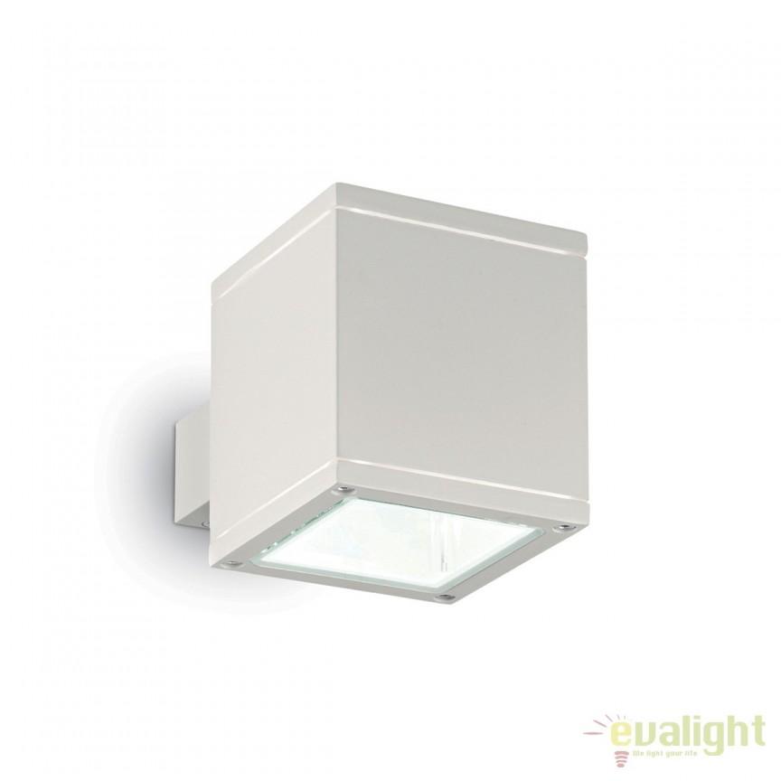 Aplica moderna iluminat exterior IP44 SNIF AP1 SQUARE 144276, Aplice de exterior moderne , Corpuri de iluminat, lustre, aplice, veioze, lampadare, plafoniere. Mobilier si decoratiuni, oglinzi, scaune, fotolii. Oferte speciale iluminat interior si exterior. Livram in toata tara.  a