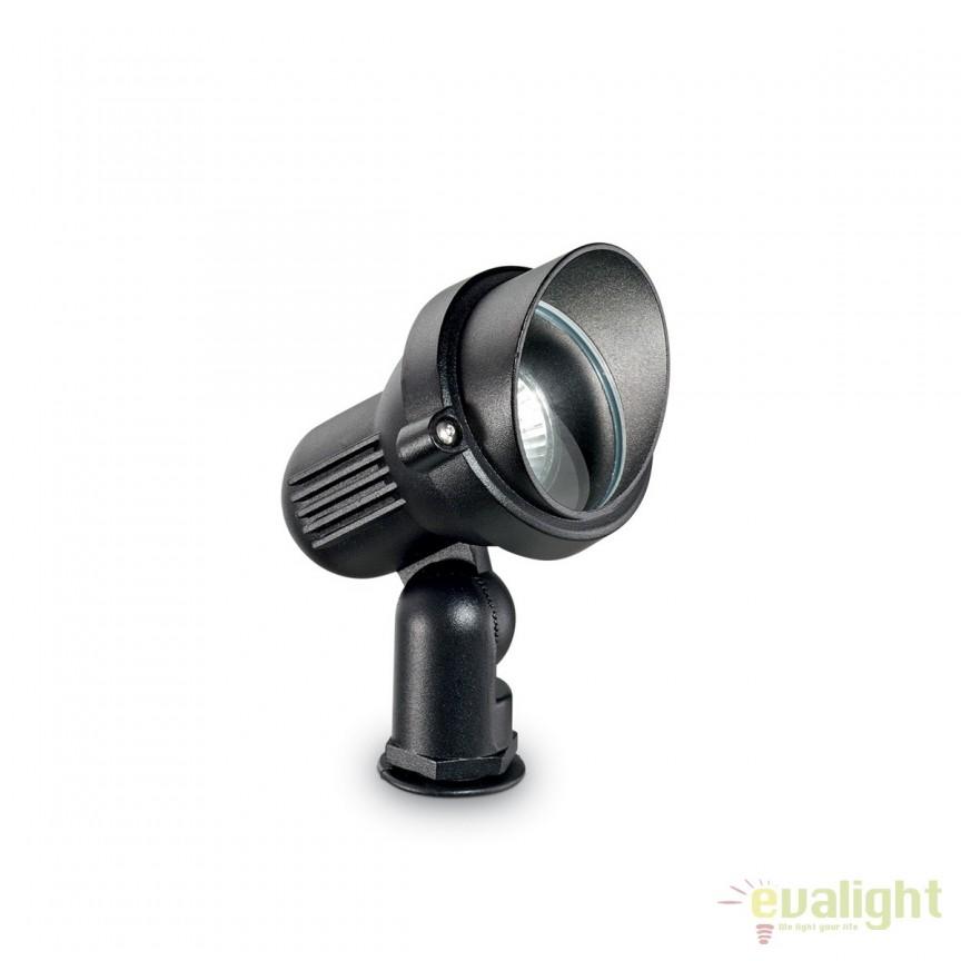 Tarus cu proiector IP65 TERRA PT1 SMALL NERO 046211, Proiectoare de iluminat exterior , Corpuri de iluminat, lustre, aplice, veioze, lampadare, plafoniere. Mobilier si decoratiuni, oglinzi, scaune, fotolii. Oferte speciale iluminat interior si exterior. Livram in toata tara.  a