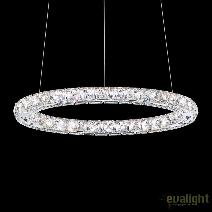 Lustra eleganta design LUX cristal Swarovski, LED Circle SC510, Lustre Cristal Swarovski , Corpuri de iluminat, lustre, aplice, veioze, lampadare, plafoniere. Mobilier si decoratiuni, oglinzi, scaune, fotolii. Oferte speciale iluminat interior si exterior. Livram in toata tara.  a