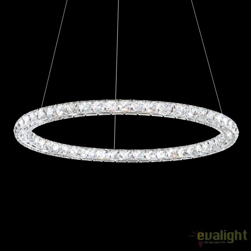 Lustra eleganta design LUX cristal Swarovski, LED Circle SC610, Lustre Cristal Swarovski , Corpuri de iluminat, lustre, aplice, veioze, lampadare, plafoniere. Mobilier si decoratiuni, oglinzi, scaune, fotolii. Oferte speciale iluminat interior si exterior. Livram in toata tara.  a