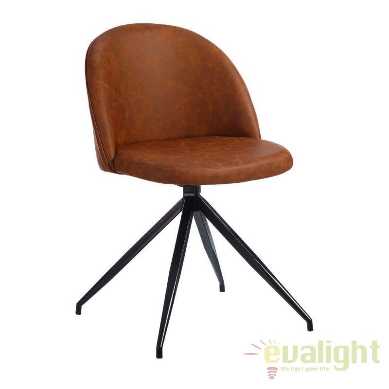 Set de 2 scaune pivotante cu design ergonomic ideale pentru sali de conferinta sau birouri, Evelina, maro SX-101324, Seturi scaune dining, scaune HoReCa, Corpuri de iluminat, lustre, aplice, veioze, lampadare, plafoniere. Mobilier si decoratiuni, oglinzi, scaune, fotolii. Oferte speciale iluminat interior si exterior. Livram in toata tara.  a