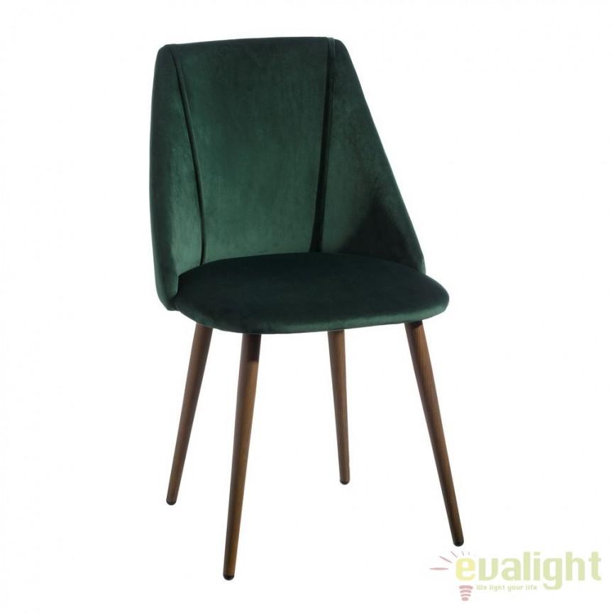 Set de 2 scaune elegante cu tapiterie din catifea Arnulfe, verde SX-103769, Seturi scaune dining, scaune HoReCa, Corpuri de iluminat, lustre, aplice, veioze, lampadare, plafoniere. Mobilier si decoratiuni, oglinzi, scaune, fotolii. Oferte speciale iluminat interior si exterior. Livram in toata tara.  a