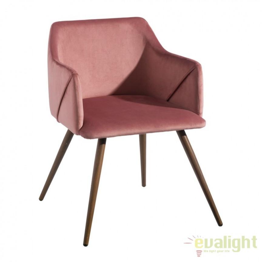 Set de 2 scaune cu brate, tapiterie din catifea, Arnulfe, roz SX-103773, Seturi scaune dining, scaune HoReCa, Corpuri de iluminat, lustre, aplice, veioze, lampadare, plafoniere. Mobilier si decoratiuni, oglinzi, scaune, fotolii. Oferte speciale iluminat interior si exterior. Livram in toata tara.  a