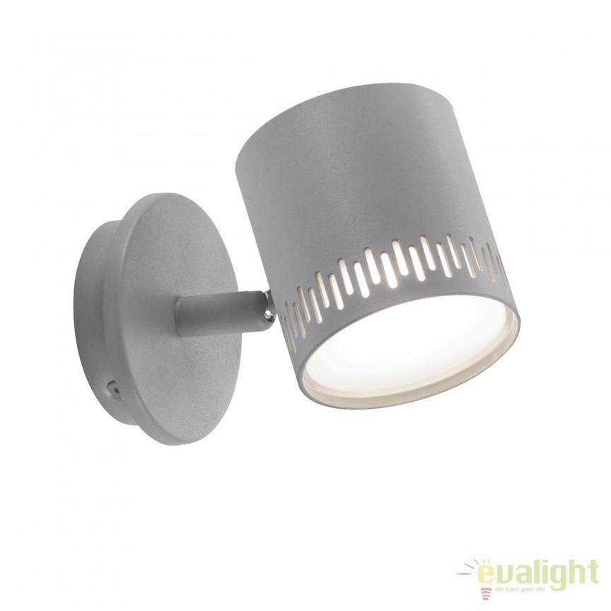 Aplica LED cu spot directionabil Cavi gri deschis G73110/52, Spoturi - iluminat - cu 1 spot, Corpuri de iluminat, lustre, aplice, veioze, lampadare, plafoniere. Mobilier si decoratiuni, oglinzi, scaune, fotolii. Oferte speciale iluminat interior si exterior. Livram in toata tara.  a