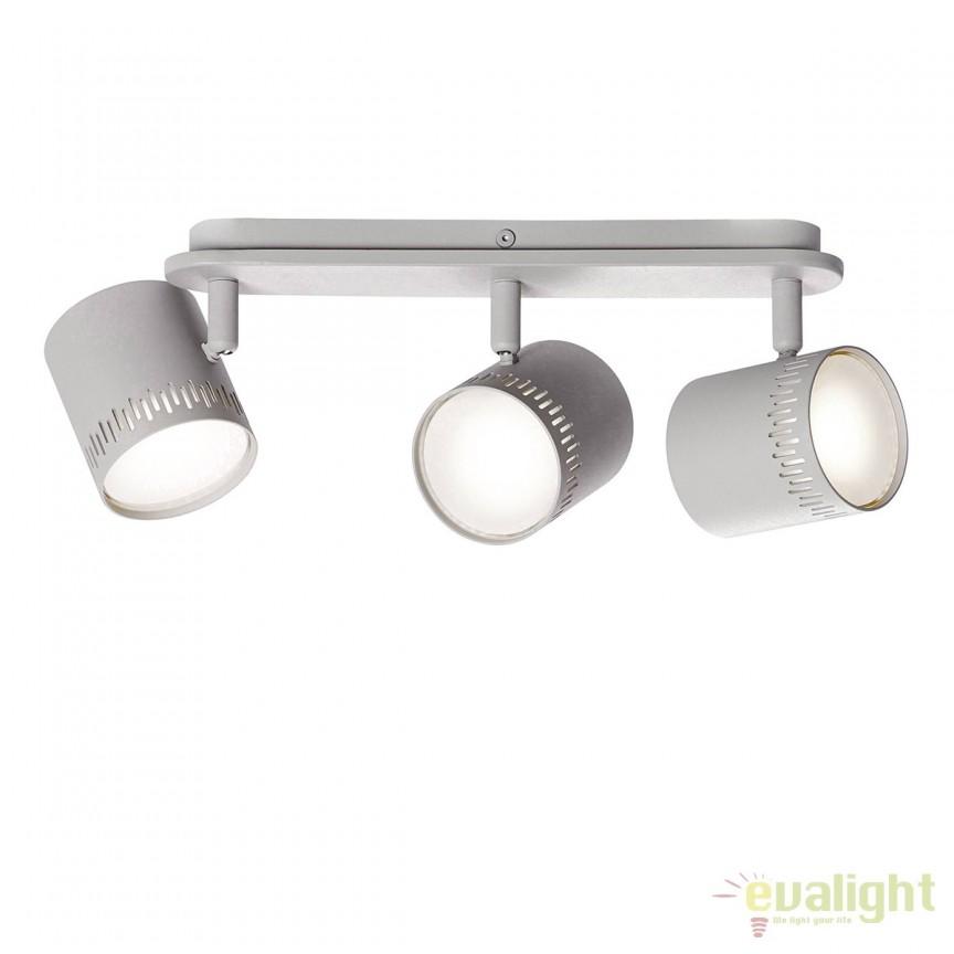Plafoniera LED cu 3 spoturi directionabile Cavi gri deschis G73130/52 BL, Spoturi - iluminat - cu 3 spoturi, Corpuri de iluminat, lustre, aplice, veioze, lampadare, plafoniere. Mobilier si decoratiuni, oglinzi, scaune, fotolii. Oferte speciale iluminat interior si exterior. Livram in toata tara.  a
