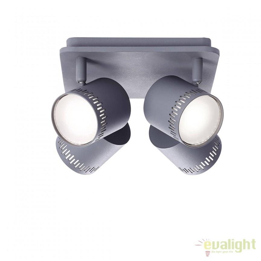 Plafoniera LED cu 4 spoturi directionabile Cavi gri inchis G73135/22 BL, Spoturi - iluminat - cu 4 spoturi, Corpuri de iluminat, lustre, aplice, veioze, lampadare, plafoniere. Mobilier si decoratiuni, oglinzi, scaune, fotolii. Oferte speciale iluminat interior si exterior. Livram in toata tara.  a