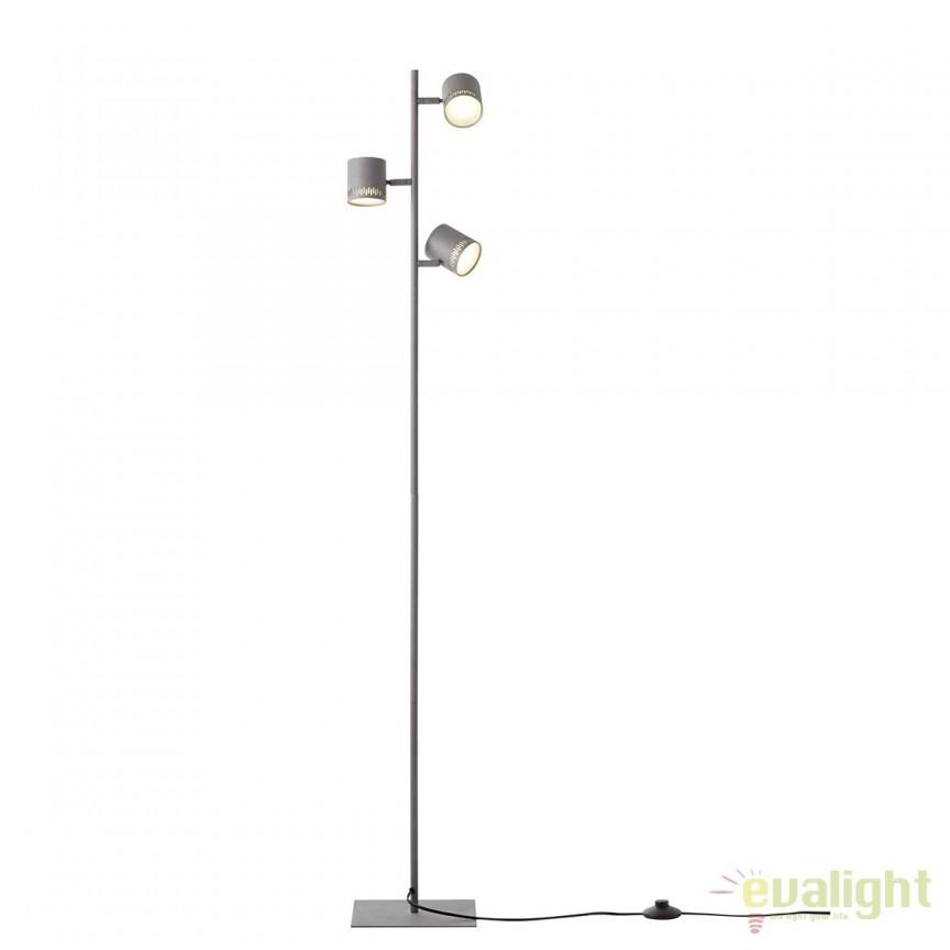 Lampadar LED cu 3 spoturi directionabile Cavi gri inchis G73159/22 BL, Veioze LED, Lampadare LED, Corpuri de iluminat, lustre, aplice, veioze, lampadare, plafoniere. Mobilier si decoratiuni, oglinzi, scaune, fotolii. Oferte speciale iluminat interior si exterior. Livram in toata tara.  a