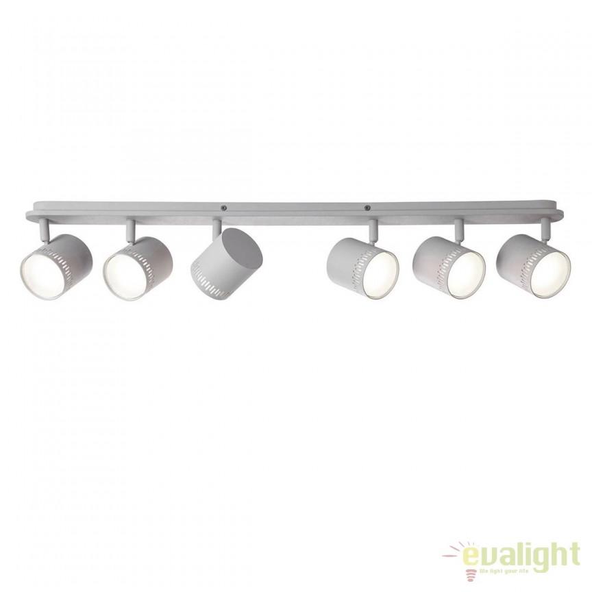 Plafoniera LED cu 6 spoturi directionabile Cavi gri deschis G73196/52 BL, Spoturi - iluminat - cu 5 si 6 spoturi, Corpuri de iluminat, lustre, aplice, veioze, lampadare, plafoniere. Mobilier si decoratiuni, oglinzi, scaune, fotolii. Oferte speciale iluminat interior si exterior. Livram in toata tara.  a