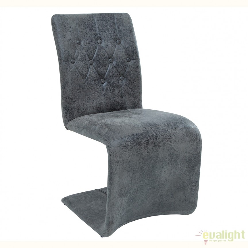 Set de 2 scaune elegante cu tapiterie din microfibra Victorian, gri vintage A-38094 VC, Seturi scaune dining, scaune HoReCa, Corpuri de iluminat, lustre, aplice, veioze, lampadare, plafoniere. Mobilier si decoratiuni, oglinzi, scaune, fotolii. Oferte speciale iluminat interior si exterior. Livram in toata tara.  a