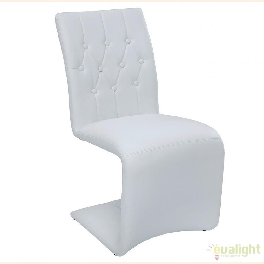 Set de 2 scaune elegante cu tapiterie din microfibra Victorian, alb vintage A-38092 VC, Seturi scaune dining, scaune HoReCa, Corpuri de iluminat, lustre, aplice, veioze, lampadare, plafoniere. Mobilier si decoratiuni, oglinzi, scaune, fotolii. Oferte speciale iluminat interior si exterior. Livram in toata tara.  a