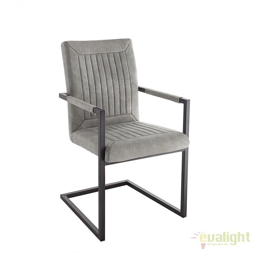 Set de 2 scaune design industrial vintage Bristol, gri stone A-38337 VC, Seturi scaune dining, scaune HoReCa, Corpuri de iluminat, lustre, aplice, veioze, lampadare, plafoniere. Mobilier si decoratiuni, oglinzi, scaune, fotolii. Oferte speciale iluminat interior si exterior. Livram in toata tara.  a