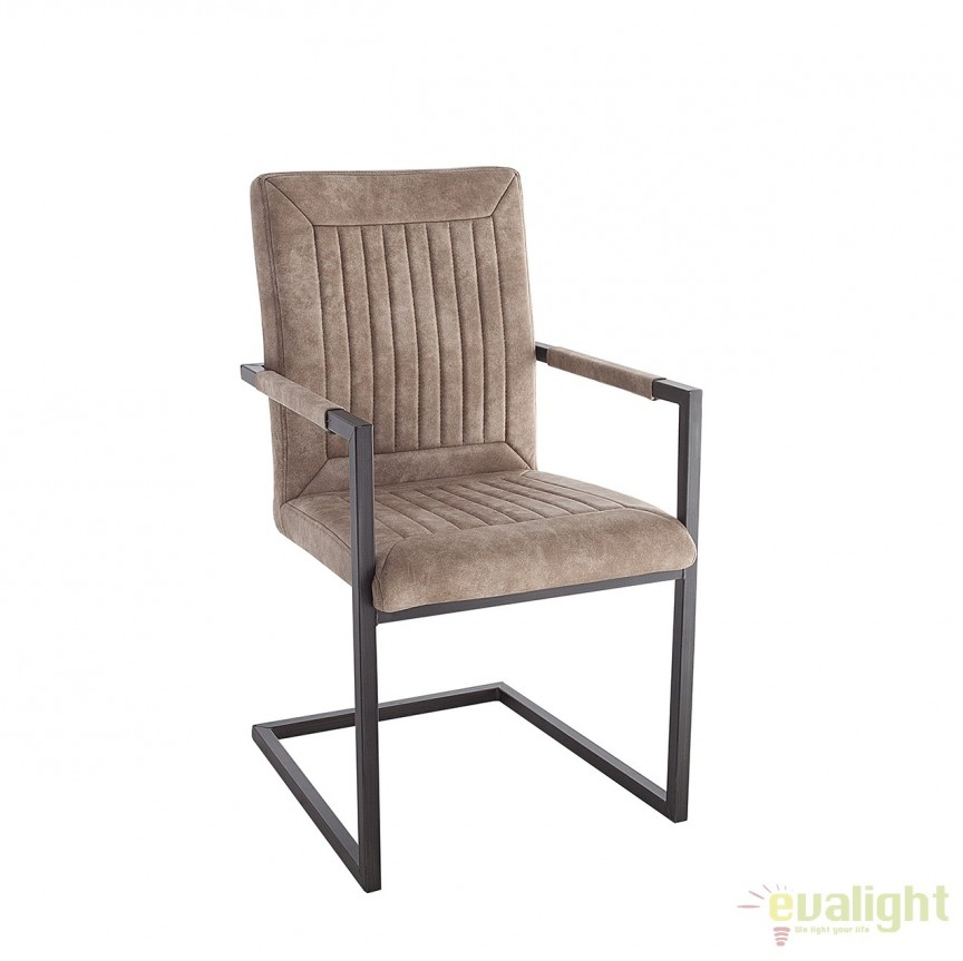 Set de 2 scaune design industrial vintage Bristol, bej A-38338 VC , Seturi scaune dining, scaune HoReCa, Corpuri de iluminat, lustre, aplice, veioze, lampadare, plafoniere. Mobilier si decoratiuni, oglinzi, scaune, fotolii. Oferte speciale iluminat interior si exterior. Livram in toata tara.  a