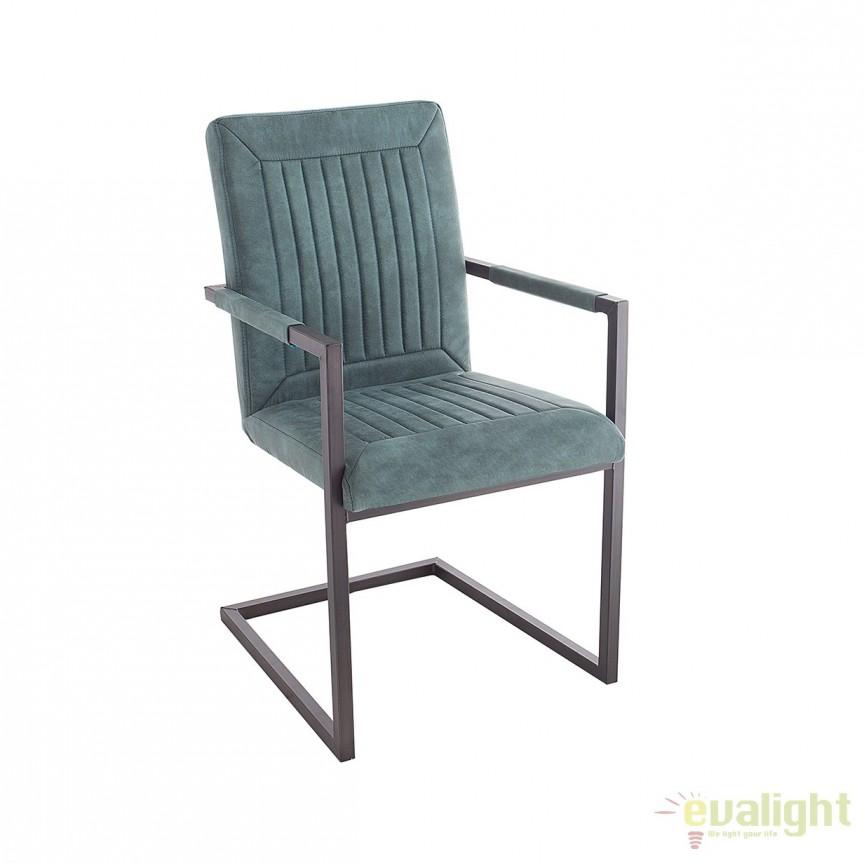 Set de 2 scaune design industrial vintage Bristol, turcoaz A-38339 VC, Seturi scaune dining, scaune HoReCa, Corpuri de iluminat, lustre, aplice, veioze, lampadare, plafoniere. Mobilier si decoratiuni, oglinzi, scaune, fotolii. Oferte speciale iluminat interior si exterior. Livram in toata tara.  a