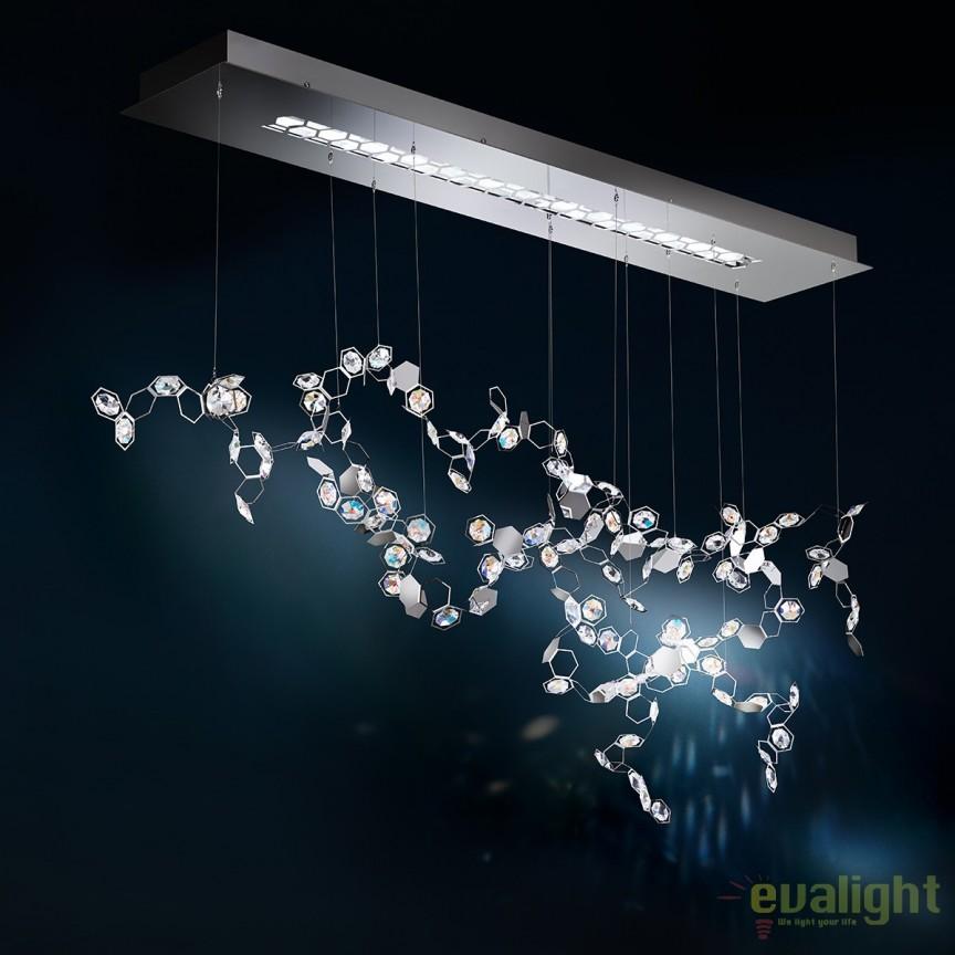 Lustra design LUX cristal Swarovski, Crystalon SCY530, Lustre Cristal Swarovski , Corpuri de iluminat, lustre, aplice, veioze, lampadare, plafoniere. Mobilier si decoratiuni, oglinzi, scaune, fotolii. Oferte speciale iluminat interior si exterior. Livram in toata tara.  a