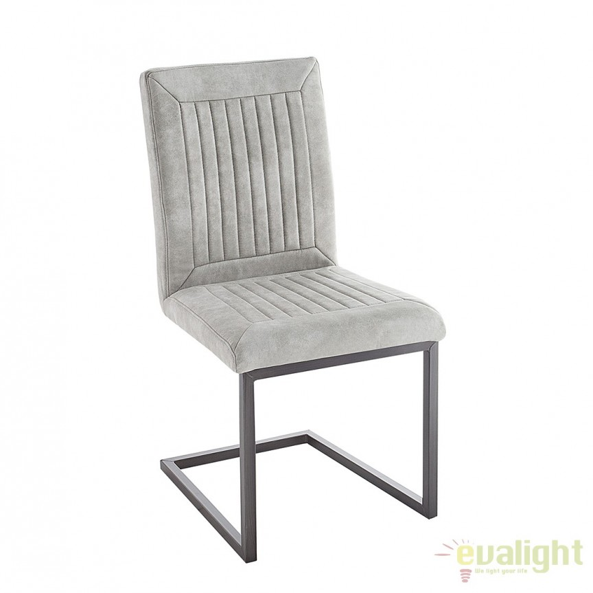 Set de 4 scaune design industrial vintage Bristol, gri stone A-38341 VC, Seturi scaune dining, scaune HoReCa, Corpuri de iluminat, lustre, aplice, veioze, lampadare, plafoniere. Mobilier si decoratiuni, oglinzi, scaune, fotolii. Oferte speciale iluminat interior si exterior. Livram in toata tara.  a
