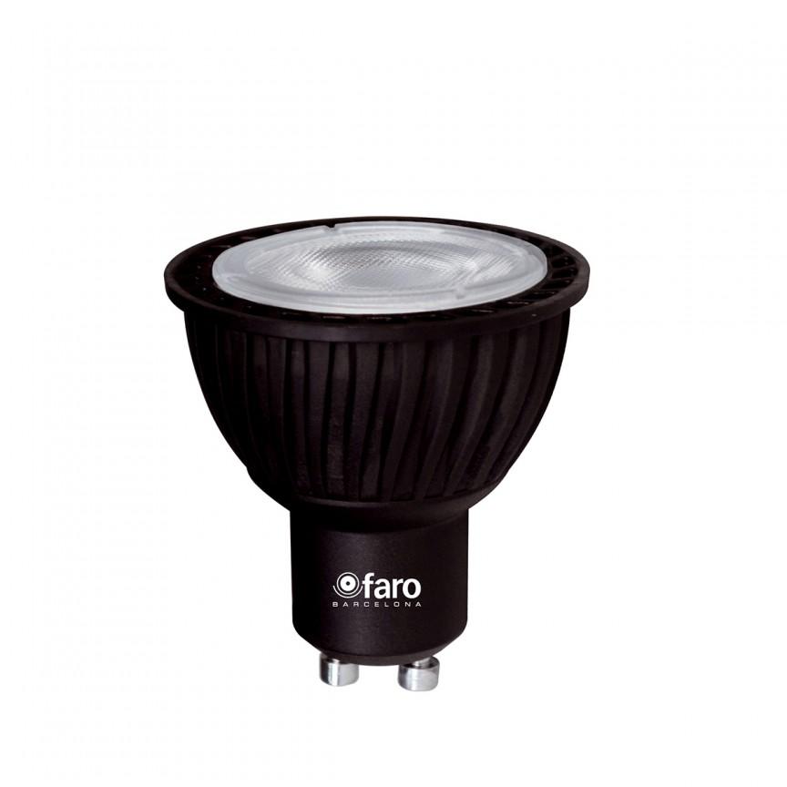 Bec LED GU10 5W 2700K 300Lm Faro Barcelona 14140, BECURI ILUMINAT, Corpuri de iluminat, lustre, aplice, veioze, lampadare, plafoniere. Mobilier si decoratiuni, oglinzi, scaune, fotolii. Oferte speciale iluminat interior si exterior. Livram in toata tara.  a