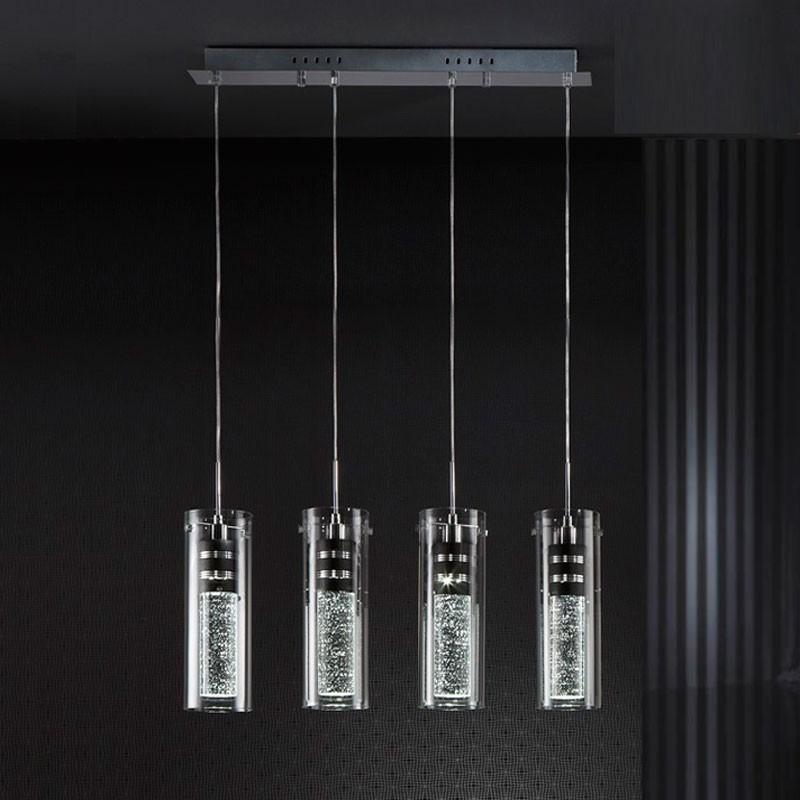 LUSTRA LED cu 4 pendule design modern Bubble SV-860117, Lustre LED, Pendule LED, Corpuri de iluminat, lustre, aplice, veioze, lampadare, plafoniere. Mobilier si decoratiuni, oglinzi, scaune, fotolii. Oferte speciale iluminat interior si exterior. Livram in toata tara.  a