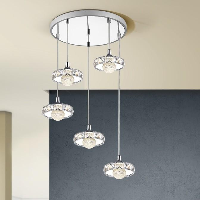 Lustra LED cu 5 Pendule design modern Suria SV-376370, Lustre LED, Pendule LED, Corpuri de iluminat, lustre, aplice, veioze, lampadare, plafoniere. Mobilier si decoratiuni, oglinzi, scaune, fotolii. Oferte speciale iluminat interior si exterior. Livram in toata tara.  a