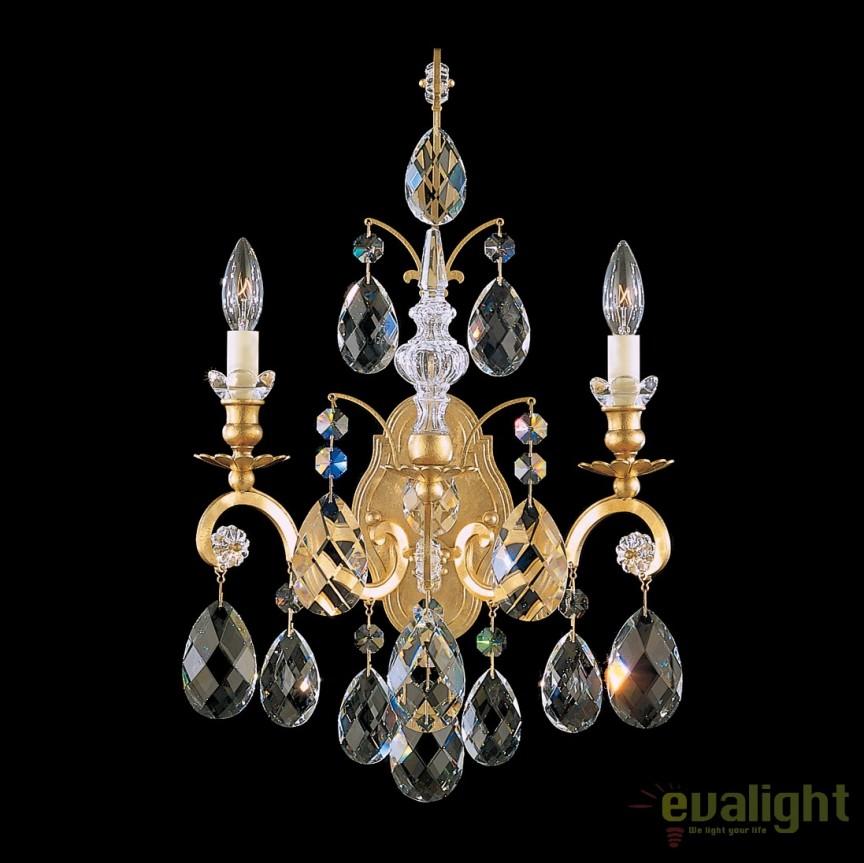 Aplica LUX 2 brate, stil baroc cu cristale Heritage, Renaissance 3761, Magazin, Corpuri de iluminat, lustre, aplice, veioze, lampadare, plafoniere. Mobilier si decoratiuni, oglinzi, scaune, fotolii. Oferte speciale iluminat interior si exterior. Livram in toata tara.  a