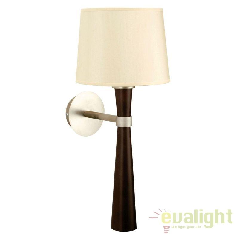 Aplica eleganta cu baza din lemn BARON KB AP1, PROMOTII, Corpuri de iluminat, lustre, aplice, veioze, lampadare, plafoniere. Mobilier si decoratiuni, oglinzi, scaune, fotolii. Oferte speciale iluminat interior si exterior. Livram in toata tara.  a
