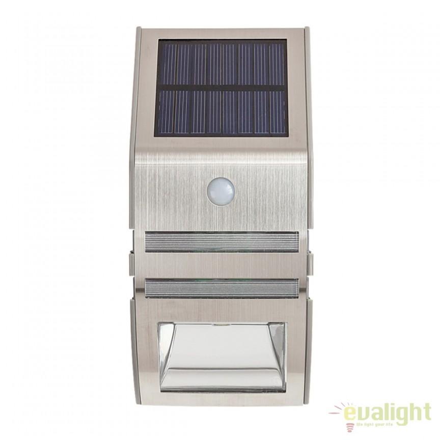 Aplica solara Led cu senzor de miscare IP44 RIJEKA 8783 Rx, Aplice de exterior moderne , Corpuri de iluminat, lustre, aplice, veioze, lampadare, plafoniere. Mobilier si decoratiuni, oglinzi, scaune, fotolii. Oferte speciale iluminat interior si exterior. Livram in toata tara.  a