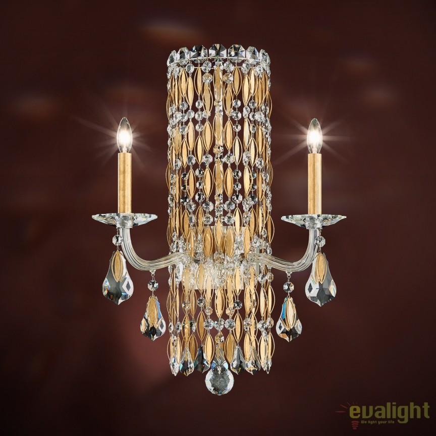 Aplica eleganta design LUX cristal Swarovski, Sarella RS8332, Aplice Cristal Schonbek , Corpuri de iluminat, lustre, aplice, veioze, lampadare, plafoniere. Mobilier si decoratiuni, oglinzi, scaune, fotolii. Oferte speciale iluminat interior si exterior. Livram in toata tara.  a