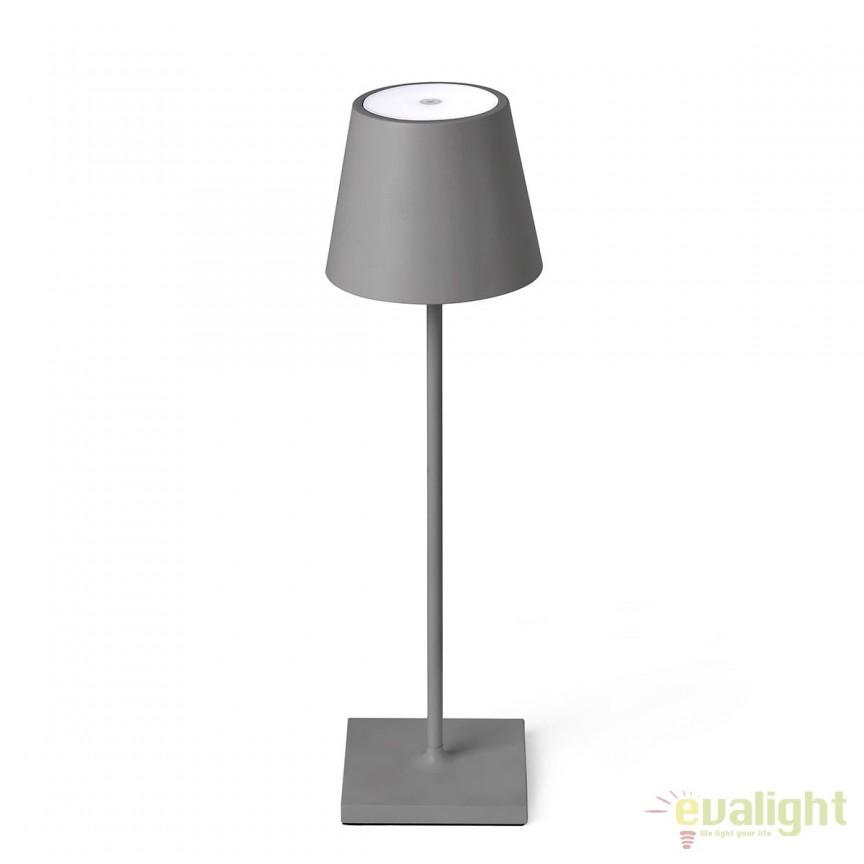 Lampa LED portabila iluminat exterior stil clasic TOC gri 70777, Lampi de exterior portabile , Corpuri de iluminat, lustre, aplice, veioze, lampadare, plafoniere. Mobilier si decoratiuni, oglinzi, scaune, fotolii. Oferte speciale iluminat interior si exterior. Livram in toata tara.  a