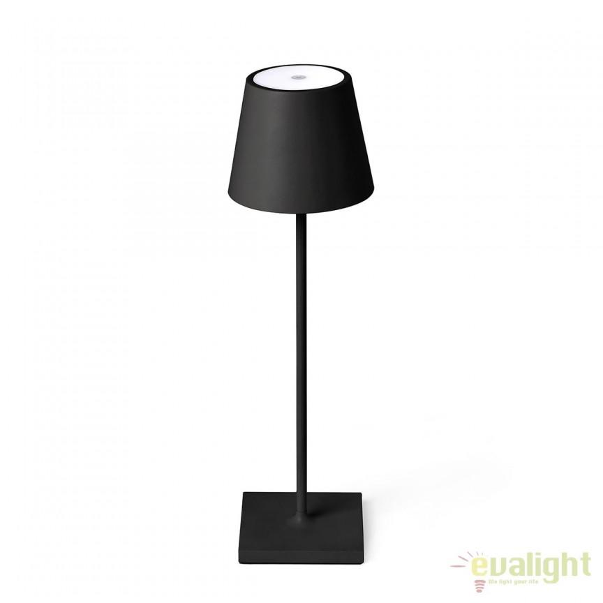 Lampa LED portabila iluminat exterior stil clasic TOC neagra 70776, Lampi de exterior portabile , Corpuri de iluminat, lustre, aplice, veioze, lampadare, plafoniere. Mobilier si decoratiuni, oglinzi, scaune, fotolii. Oferte speciale iluminat interior si exterior. Livram in toata tara.  a