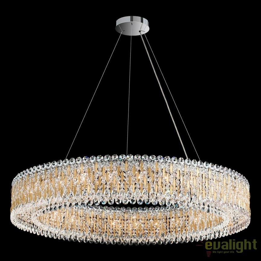 Lustra XL design LUX cristal Heritage, diametru 122m, Sarella RS8350, Lustre Cristal Schonbek , Corpuri de iluminat, lustre, aplice, veioze, lampadare, plafoniere. Mobilier si decoratiuni, oglinzi, scaune, fotolii. Oferte speciale iluminat interior si exterior. Livram in toata tara.  a
