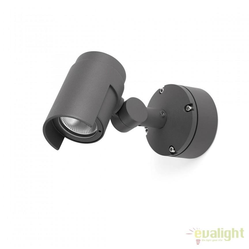 Aplica tip proiector LED iluminat exterior design modern FOC-1 70156, Proiectoare de iluminat exterior , Corpuri de iluminat, lustre, aplice, veioze, lampadare, plafoniere. Mobilier si decoratiuni, oglinzi, scaune, fotolii. Oferte speciale iluminat interior si exterior. Livram in toata tara.  a