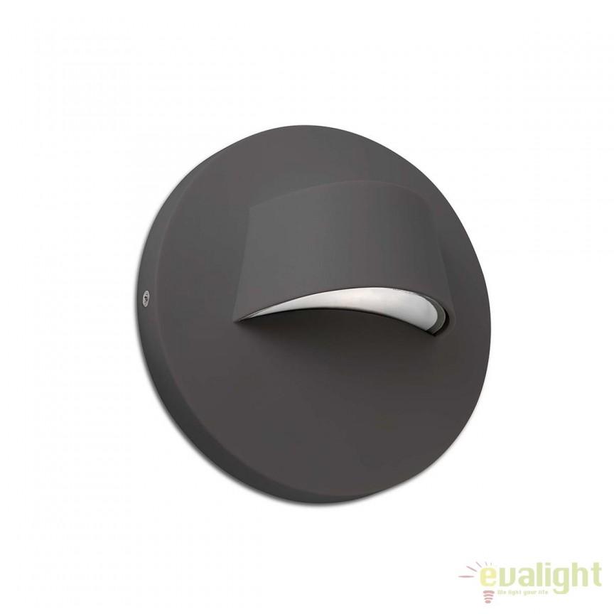 Aplica LED iluminat exterior design minimalist BROW gri inchis 70409, Aplice de exterior moderne , Corpuri de iluminat, lustre, aplice, veioze, lampadare, plafoniere. Mobilier si decoratiuni, oglinzi, scaune, fotolii. Oferte speciale iluminat interior si exterior. Livram in toata tara.  a