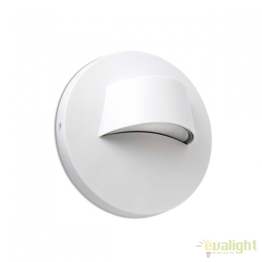 Aplica LED iluminat exterior design minimalist BROW alba 70408, Aplice de exterior moderne , Corpuri de iluminat, lustre, aplice, veioze, lampadare, plafoniere. Mobilier si decoratiuni, oglinzi, scaune, fotolii. Oferte speciale iluminat interior si exterior. Livram in toata tara.  a